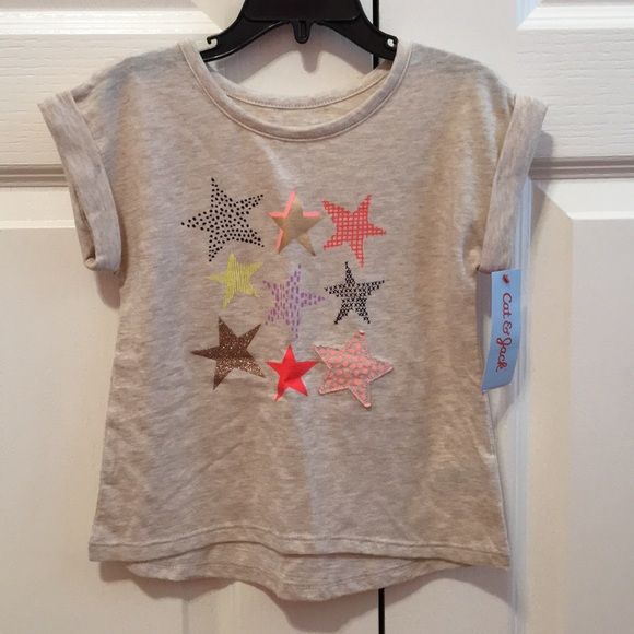 0ba21793172   Cat   Jack Cotton Tee - stars and glitter   3T